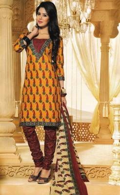 Dress Material Elegant Cotton Printed Unstitched Salwar Kameez Suit D.No M1613