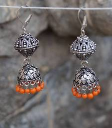 Buy orange desi tadka jhumka gifts-for-her online