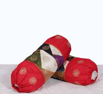 Silk Patches Bolster Pair set