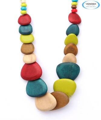 Wooden fashion necklace jewelry