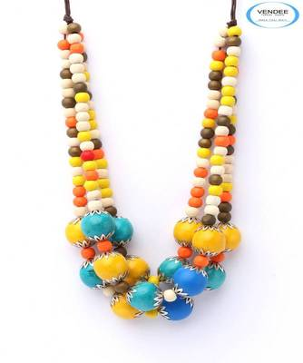 Colorful necklace jewelry