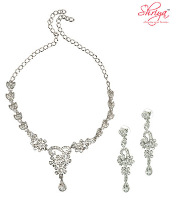 Shriya Shimmery Floral Necklace Set