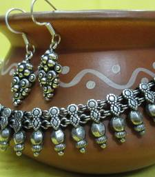 Buy Oxidized neck piece Necklace online