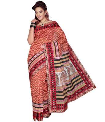 Kalazone Printed Super net Bandhej saree: WS20116