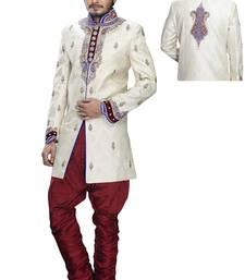 Buy multicolor silk stone sherwani wedding-sherwani online