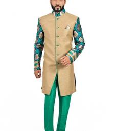 Buy natural jute with green jute indo western dresses indo-western-dress online
