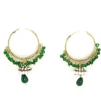 Victorian Baali Danglers Solid Green