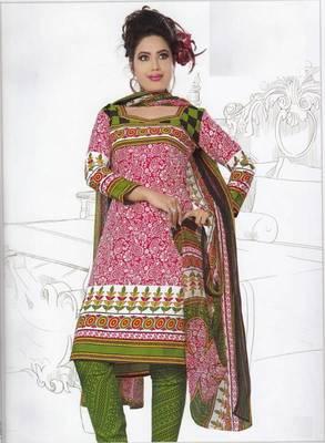 Dress Material Crepe Unstitched Elegant Salwar Kameez Suit D.No 7402