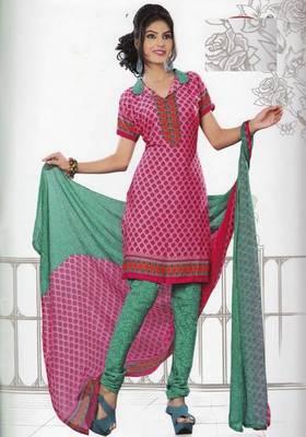 Dress Material Crepe Unstitched Elegant Salwar Kameez Suit D.No 7406