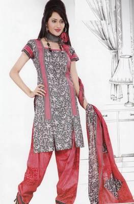 Dress Material Crepe Unstitched Elegant Salwar Kameez Suit D.No 7408