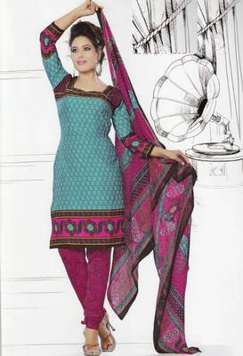 Dress Material Crepe Unstitched Elegant Salwar Kameez Suit D.No 7418