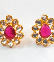 Buy Kundan Diamonds  traditional ethnic indian earring hoop online