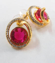 Buy Diamonds  traditional ethnic indian earring hoop online