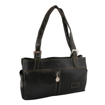 Unique Black Shoulder Handbag
