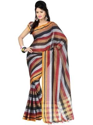 Kalazone Multi-colored Zari Work Cotton saree WS20698