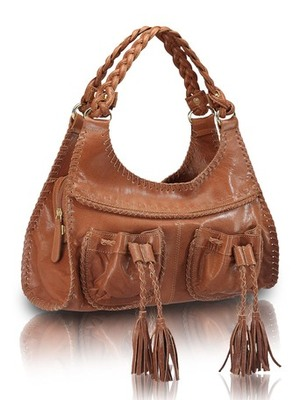 "Phive Rivers-Belle, Genuine Leather Women Handbag with colour : ""Tan"""