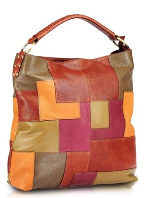 "Phive Rivers-Linda , Genuine Leather Women Handbag with colour : ""Multi color"""
