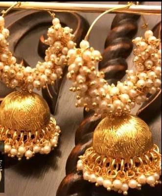 Kundan Royal Gold Plated Pearl Danglers