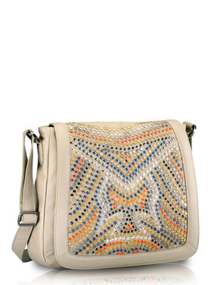 """Phive Rivers-Elle, Genuine Leather Women Sling Bag with colour : """"Grey """""""