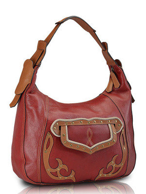 "Phive Rivers-Jolie, Genuine Leather Women Handbag with colour : ""Red"""