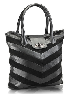 "Phive Rivers-Aimi, Genuine Leather Women Tote Bag with colour : ""Black"""
