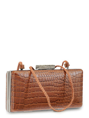 "Phive Rivers-Sieva, Genuine Leather Women Shoulder Bag with colour : ""Bronze"""