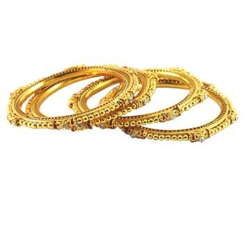 Golden Gold Platted  Brass Bangle