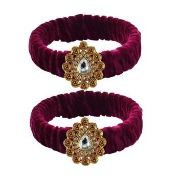 Dark Rani Stone Brass Bangle