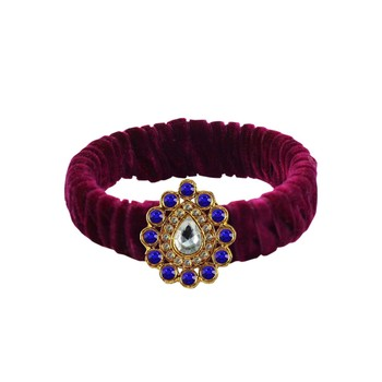 Dark Rani Stone Brass Bangle