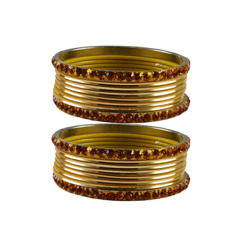 Golden Stone Brass Bangle