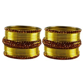 Yellow Stone Brass Bangle