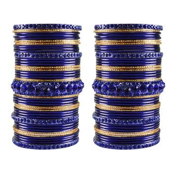 Multi Stone Brass Bangle