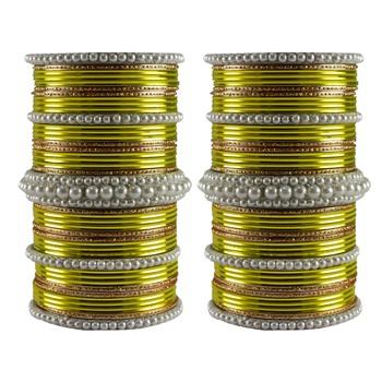 Multi Moti Brass Bangle