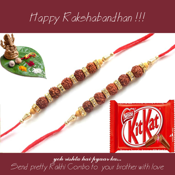 multicolor Beaded Brother Rakhi  For Rakshabandhan