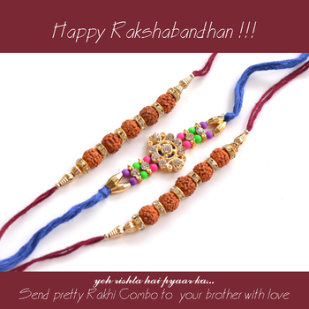 Rudraksh Rakhi with small Dairy Milk