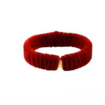 Red Plain Brass Bangle