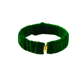 Green Plain Brass Bangle