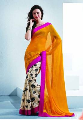 Saree With Unstitched Blouse (15012)