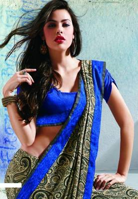 Saree With Unstitched Blouse (15019)