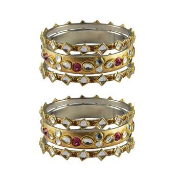 Golden Stone Brass Bangle