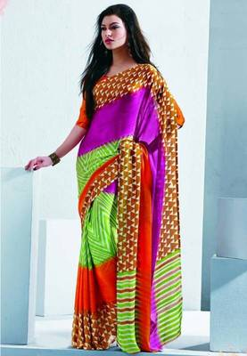 Saree With Unstitched Blouse (15034)