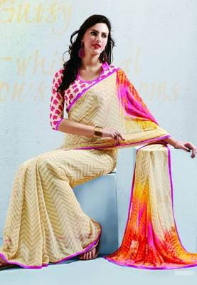 Saree With Unstitched Blouse (15044)