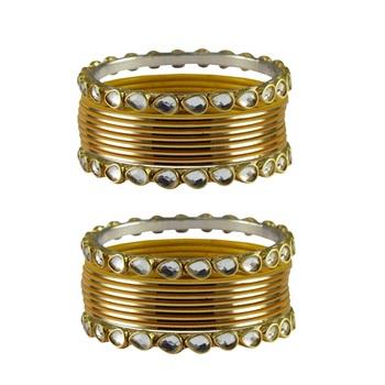 Golden Stone Metal Bangle