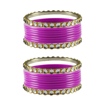 Rani Stone Acrylic-Brass Bangle