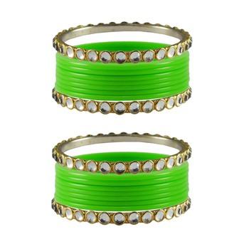 Totai Stone Acrylic-Brass Bangle
