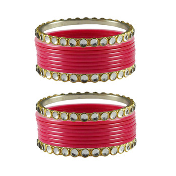 Gajari Stone Acrylic-Brass Bangle