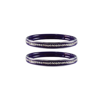Voilet Stone Metal Bangle