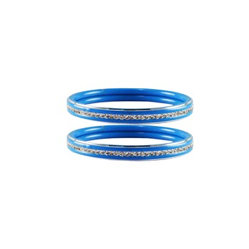 Light Blue  Stone Metal Bangle