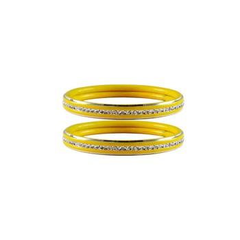 Yellow Stone Metal Bangle