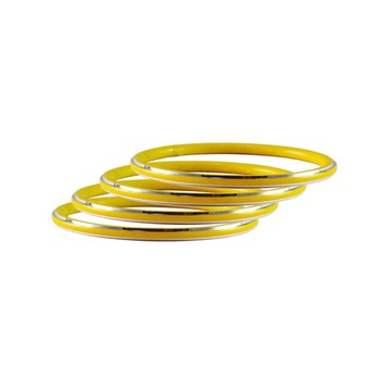 Yellow Plain Metal Bangle